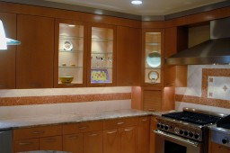 maple and stainless steel kitchen