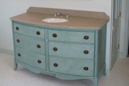dresser converted into vanity
