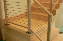Wood & metal rail for stairs